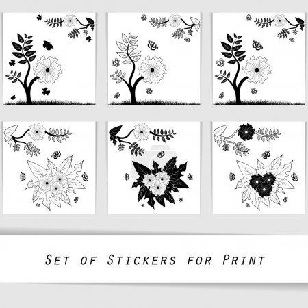 flower silhouette decorative element