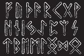 Futhark runes magic symbols Runes of Magic vector set