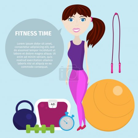 Infographics healthy lifestyle with healthy food icons, dumbbell, fruits, camping, fitness woman. Teenage girl. Teen girl. Love girl. Romantic girl. Pretty girl. Diet concept. Meal plan. Fitness food.
