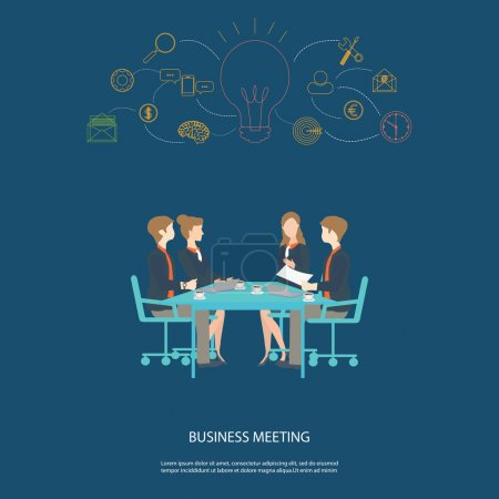 Business meeting partnership and brainstorming.