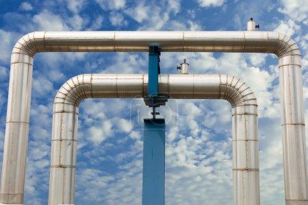 Omega loop steam pipeline for industrial.