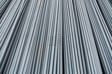 Steel bar for reinforcement of building.