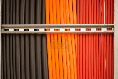Colorful of cable wire.