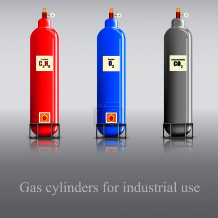 Gas cylinders for industrial use