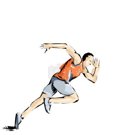 athletics illustration, athlete who practices sports