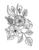 Bouquet of flowers isolated on white background Vector illustration EPS 10