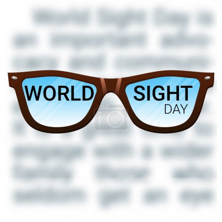 World Sight Day background. Fighting blindness, cataract, glaucoma, vision impairment. Eye health concept.