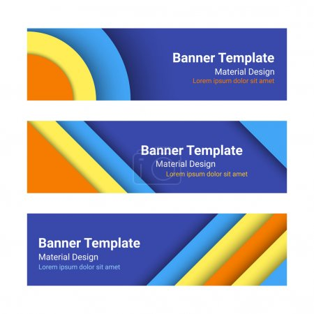 Set of modern colorful horizontal vector banners