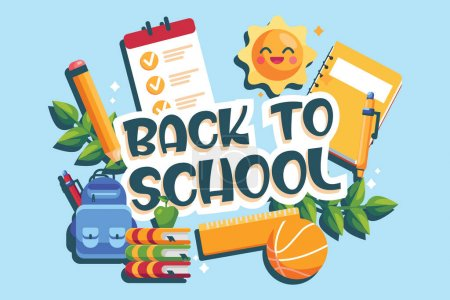 Illustration for Back to school isolated on a white background vector illustration - Royalty Free Image