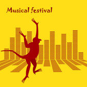 The poster a musical festival equalizer and a monkey on the main plan