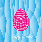 The abstract festive easter card with the image of the abstract egg
