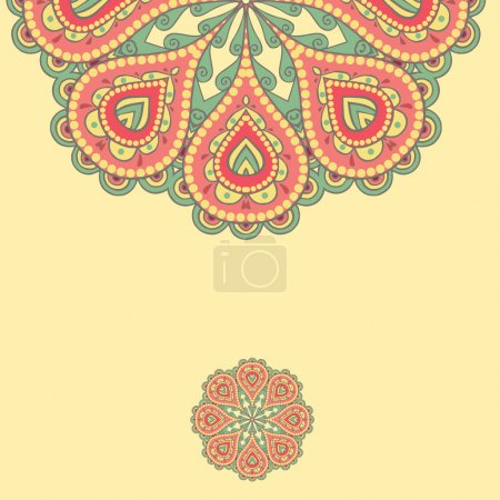 Illustration for Decorative element border. Abstract invitation card. - Royalty Free Image