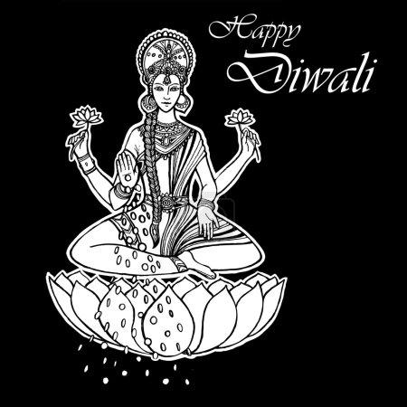 Lakshmi Goddess. Happy Diwali. India....