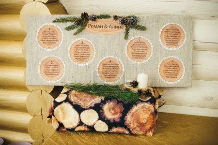 plan for seating guests in the rustic style