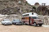 Staré rezavé auto v Nelson Nevada ghost town