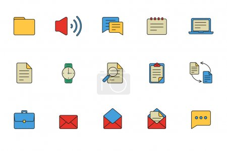Business icons, document icons