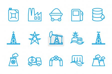Fuel and energy icons...