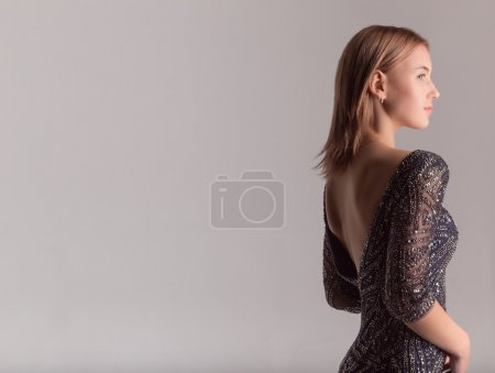 Photo for Beautiful sexy girl in sexy dress - Royalty Free Image