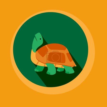 Modern Flat Design Turtle EPS10