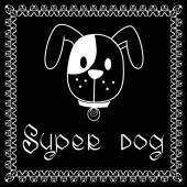 Vector image of dog on black background It is good for animation pet shop pet house pet clinic dog care or other pet activity