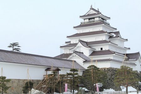 Tsuruga Castle at Japan