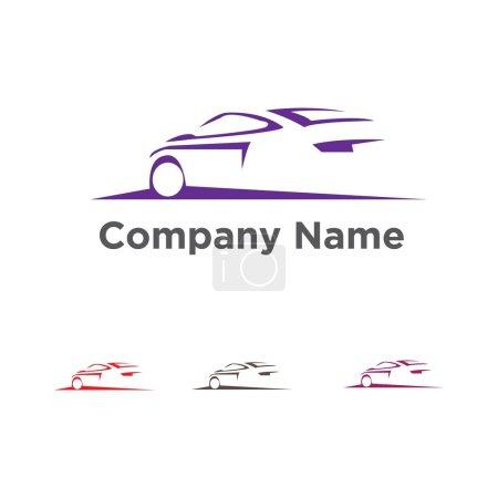 Illustration pour Logo vectoriel de course automobile - image libre de droit