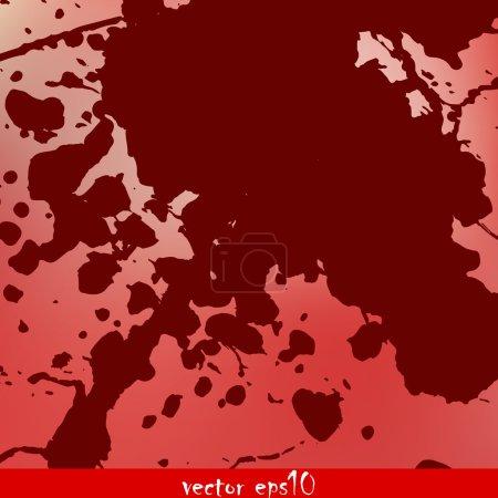 Illustration for Splattered blood stains - Vector illustration - Royalty Free Image