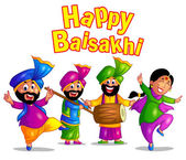 Happy baisakhi festival of punjab