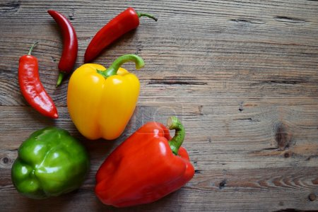 Photo for Red chilli pepper and paprika - Royalty Free Image