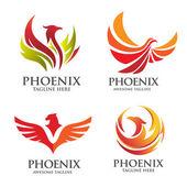 Elegáns phoenix logo meg