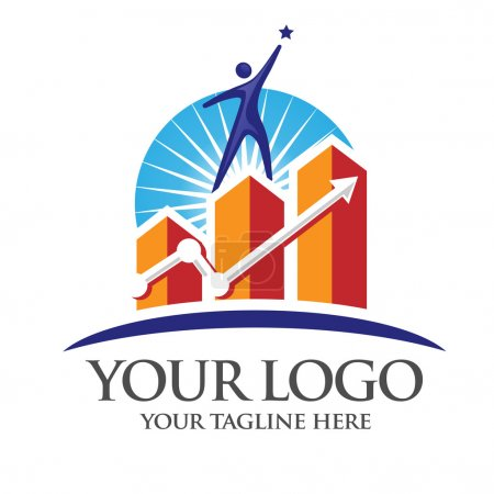 success marketing logo vector