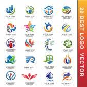 best Business Corporate Logo Set ector