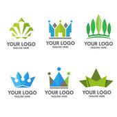 crown logo set concept