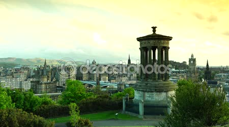 Edinburgh cityscape Skyline Taken From Calton Hill, ULTRA HD 4K