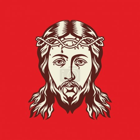 Face of Jesus Christ hand drawn