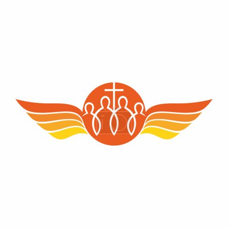 Church logo. The unity of the Church in Christ.