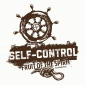 Biblical illustration Christian lettering Fruit of the spirit - self-control Galatians 5:23