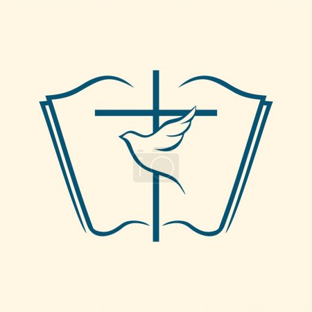 Holy spirit, cross, dove, Bible