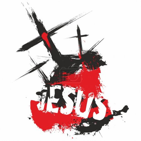Three crosses. Jesus. Illustration.