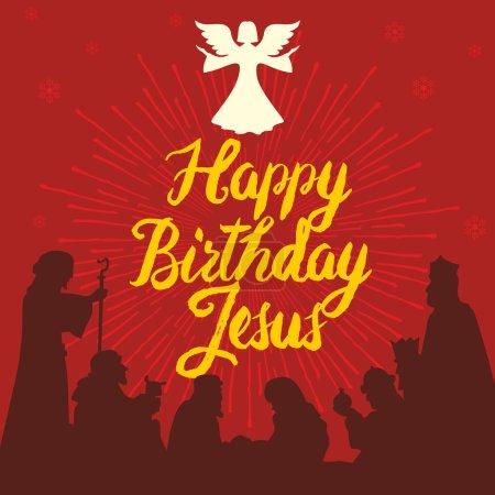 Happy Birthday Jesus. Merry christmas