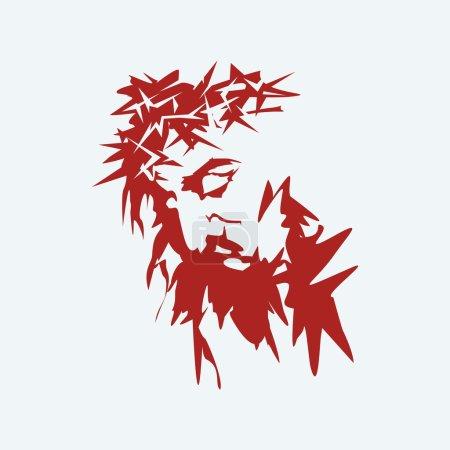 Jesus. Crown of thorns. Hand drawn.
