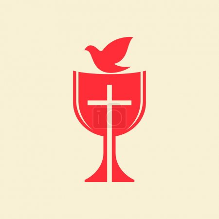 Communion chalice and dove