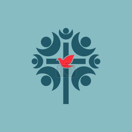 Fellowship, church, membership, cross, dove, church community, community, choir