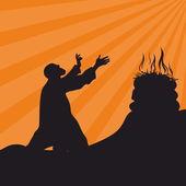Worship prayer The altar of God fire sacrifice