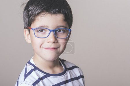 Happy boy with glasses