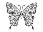 Malbuch für Erwachsene Vektor Schmetterling