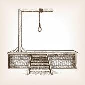 Gallows sketch style vector illustration