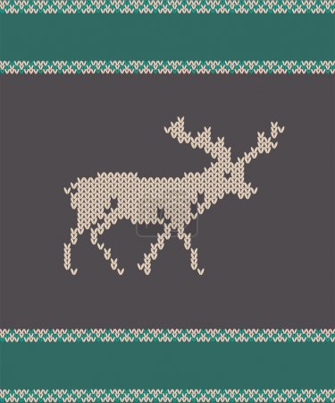 knitted deer vector illustration