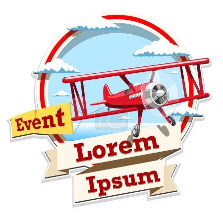 Airplane emblem logo event illustration
