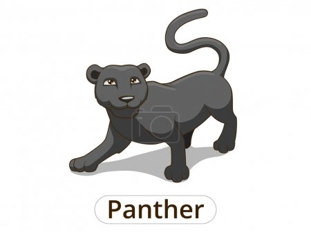 Panther african savannah cartoon illustration